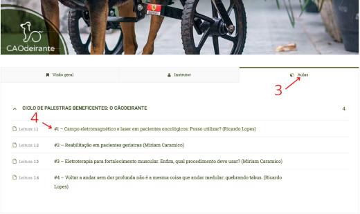 Ciclo de 4 Palestra Beneficentes - O Cãodeirante, por apenas R$ 10,00